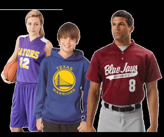 Image of screened team uniforms
